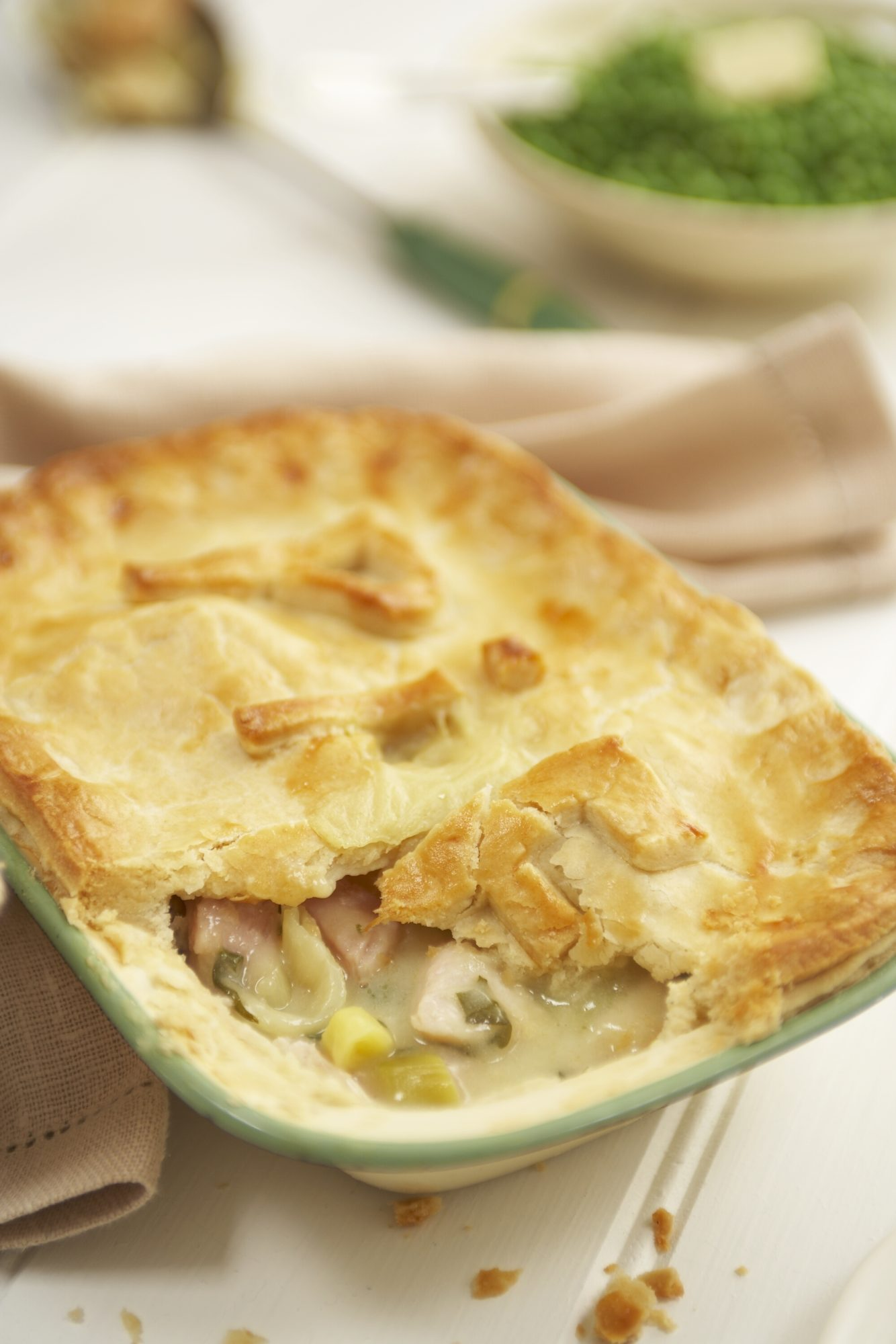 Turkey Ham and Leek Pie