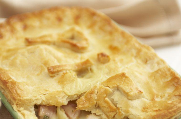 Turkey Ham and Leek Pie